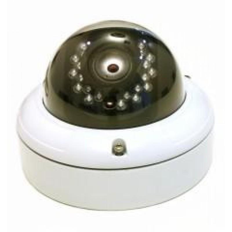 Udendørs dome-farvekamera med justerbar linse og IR-lys