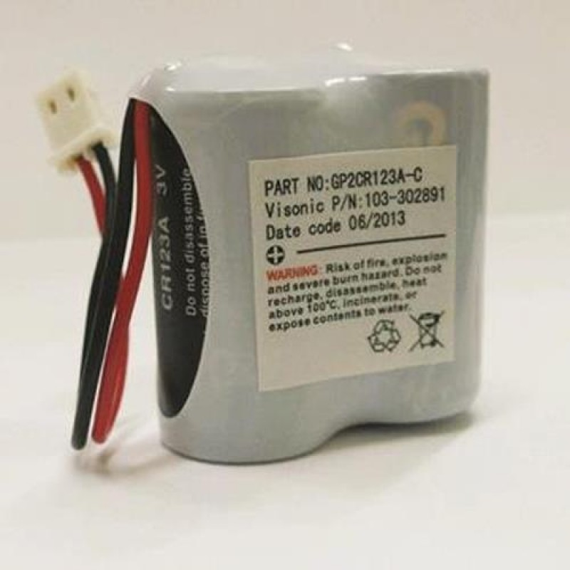 Batteri lithium 3,0 Volt 2 X CR123
