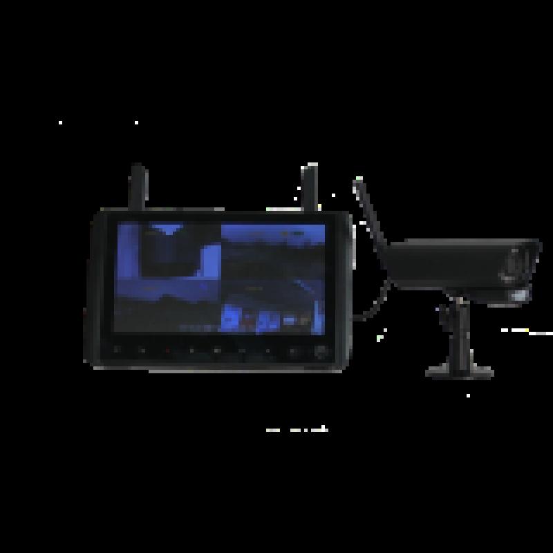 Trådløs HD videoovervågningssæt med 4stk PIR kamera