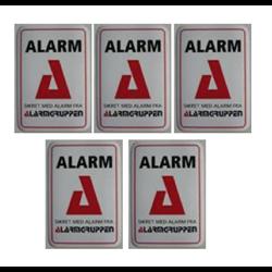 Alarmskilt selvklæbende 5 stk. pakke