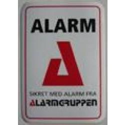 Alarmskilt selvklæbende