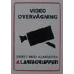 Videoovervågningskilt selvklæbende